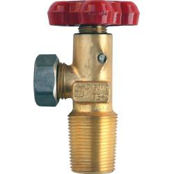 Вентиль баллона для сжиженных углеводородных газов ВБ-2 ГОСТ 21804-94 с удлиненной резьбой / 4451